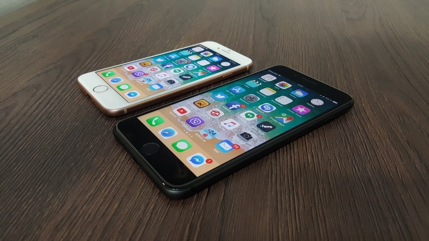 the Apple iPhone 8 and 8 Plus