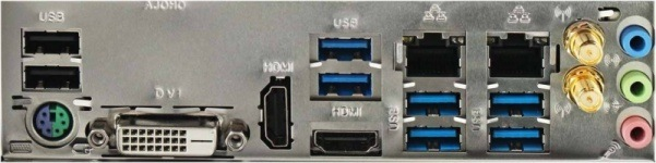 I / O ports on the back panel