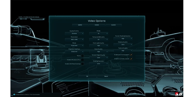 ashes of singularity; Settings
