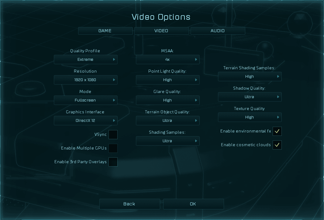 Settings in Ashes of Singularity