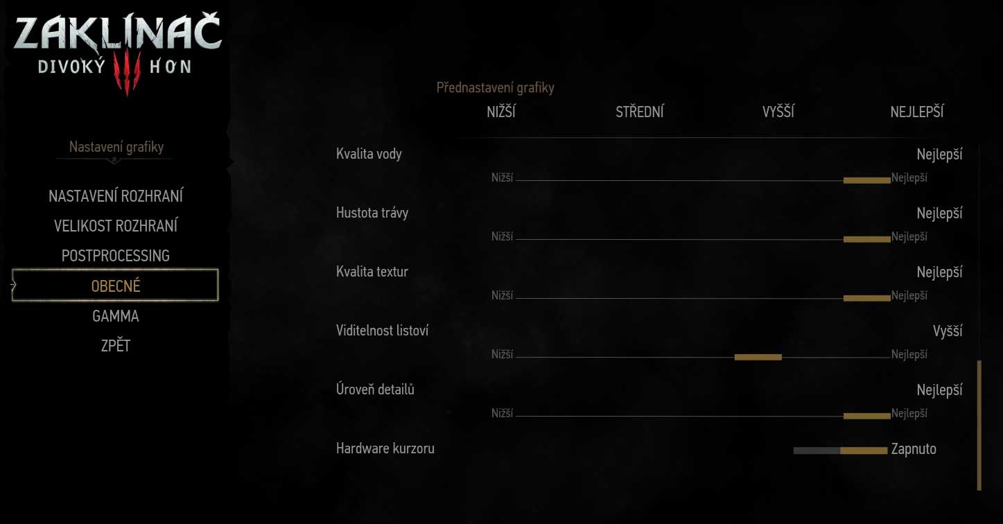 The Witcher 3: Wild Hunt General Game Settings 3