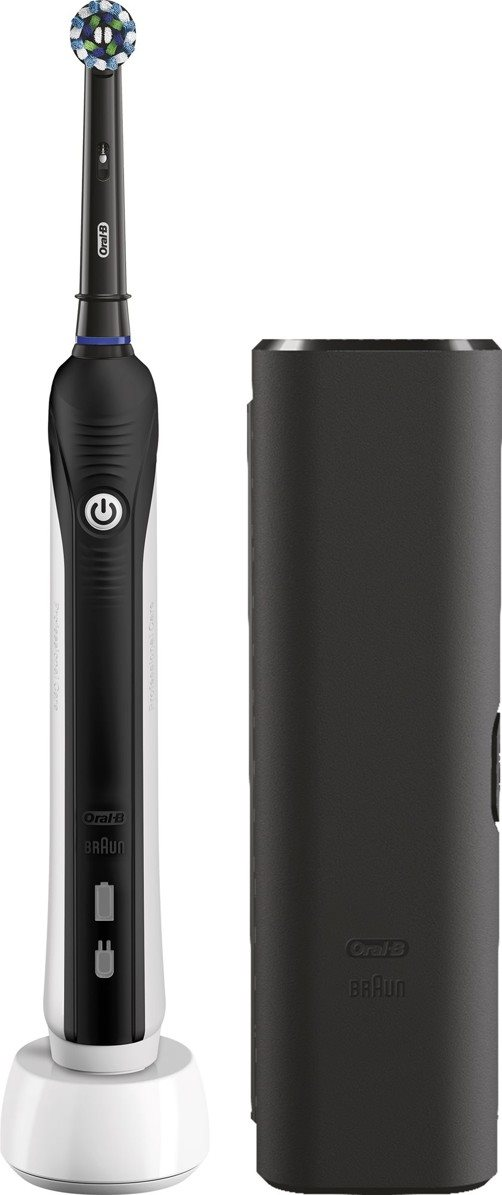Oral B Pro 750 Black Cross Action Travel Case Electric Toothbrush Alzashop Com
