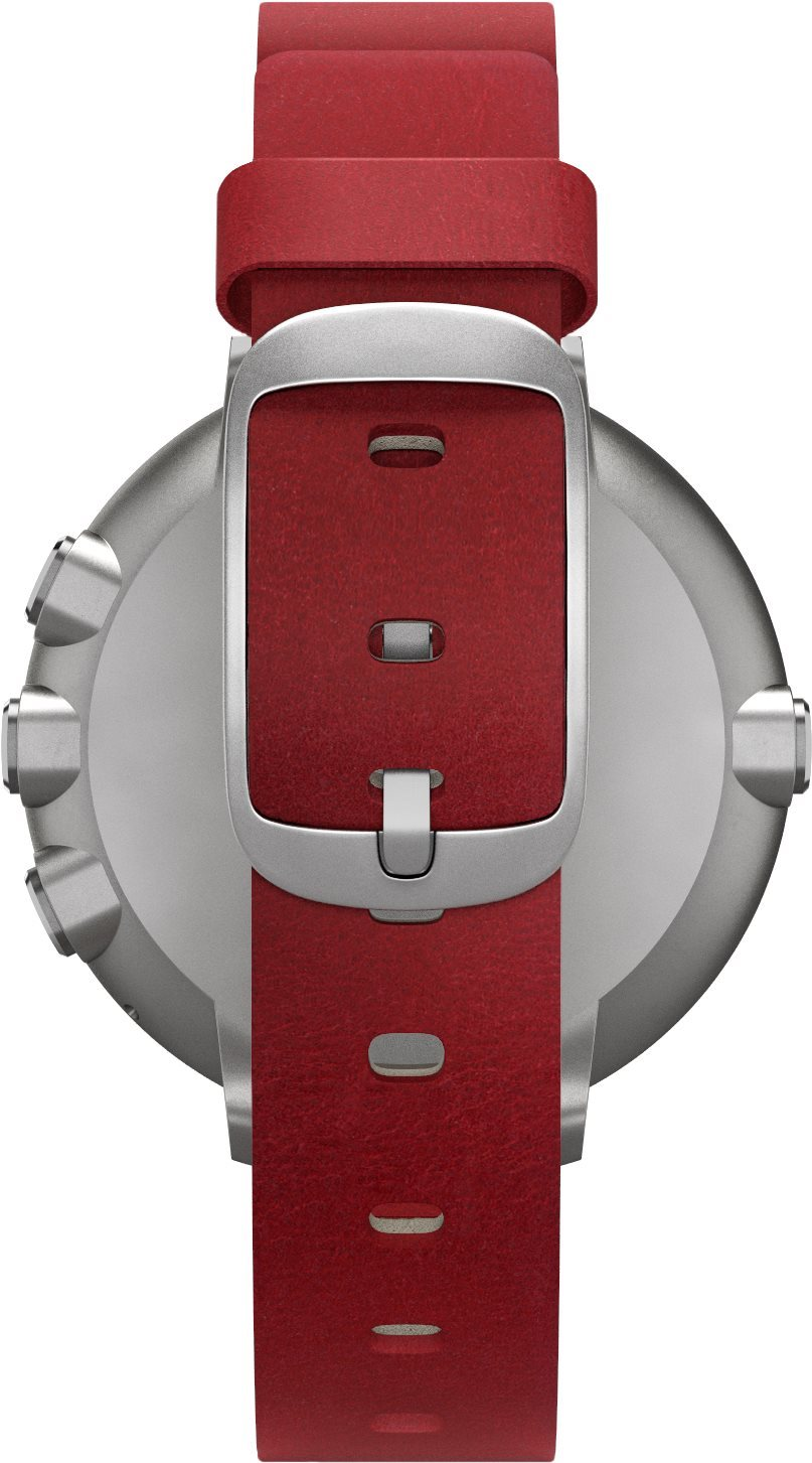 Pebble Time Round Silver Red Smartwatch Make It Your Own