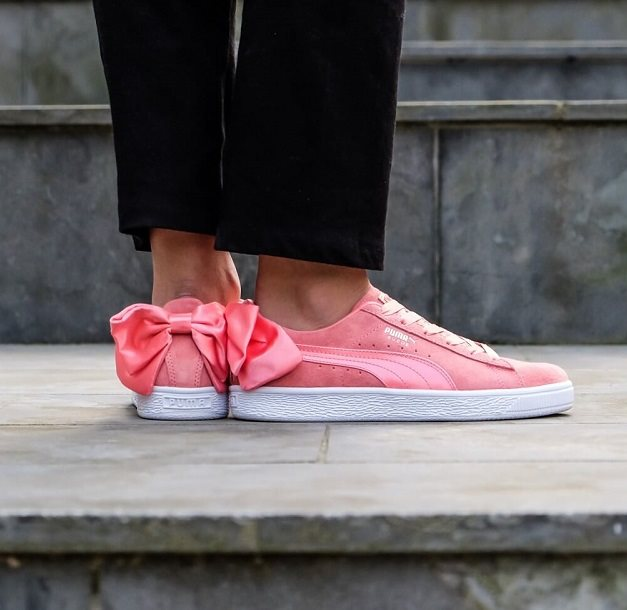 Puma Suede Bow Wn S, Pink - Casual