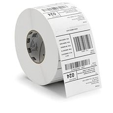 Zebra / Motorola adhesive labels for thermal transfer printing 102mm x 64mm, 2200 label labels in roll - Labels
