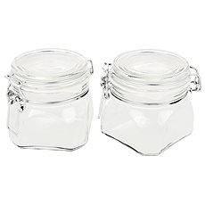GOTHIKA 750ml Preserving Jars with Lids 6pcs - Container