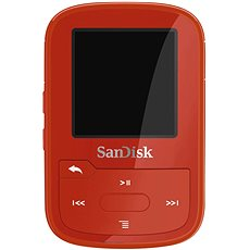 SanDisk Sansa Clip Sports Plus 16GB Red - MP3 Player