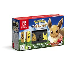 Nintendo Switch + Pokémon: Let's Go Eevee + Poké Ball - Game Console