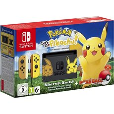 Nintendo Switch + Pokémon: Lets Go Pikachu + Poké Ball - Game Console