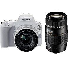 Canon EOS 200D White + 18-55mm IS STM + TAMRON 70-300mm - DSLR Camera