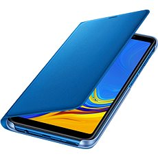 Samsung Galaxy A7 2018 Flip Wallet Cover Blue - Mobile Phone Case