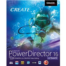 CyberLink PowerDirector 16 Ultimate (Electronic License) - Video Editing Software