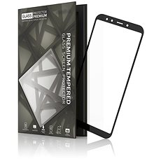 Tempered Glass Protector Frame for Xiaomi Mi A2 Black - Glass protector