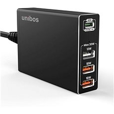 UNIBOS 4 Port 90W QC4 + Super Charger - Charger