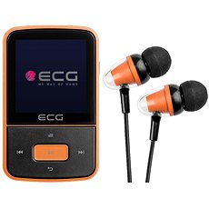 ECG PMP 30 8GB Black&Orange - MP4 Player