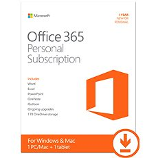 Microsoft Office 365 Personal Subscription - 1 year  - Electronic license