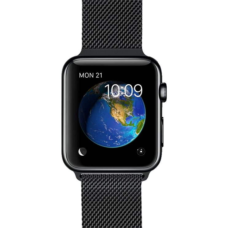 Apple Watch 38mm Space Black Stainless Steel Case with Space Black Milanese Loop - Smartwatch