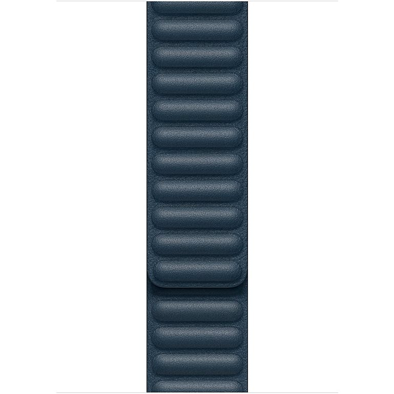 Apple 44mm Baltic Blue Leather Link - Large - Watch Band