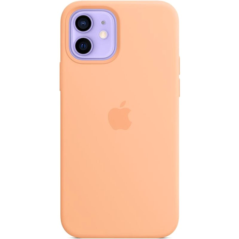Apple iPhone 12 and 12 Pro Silicone Case with MagSafe Cantaloupe - Mobile Case