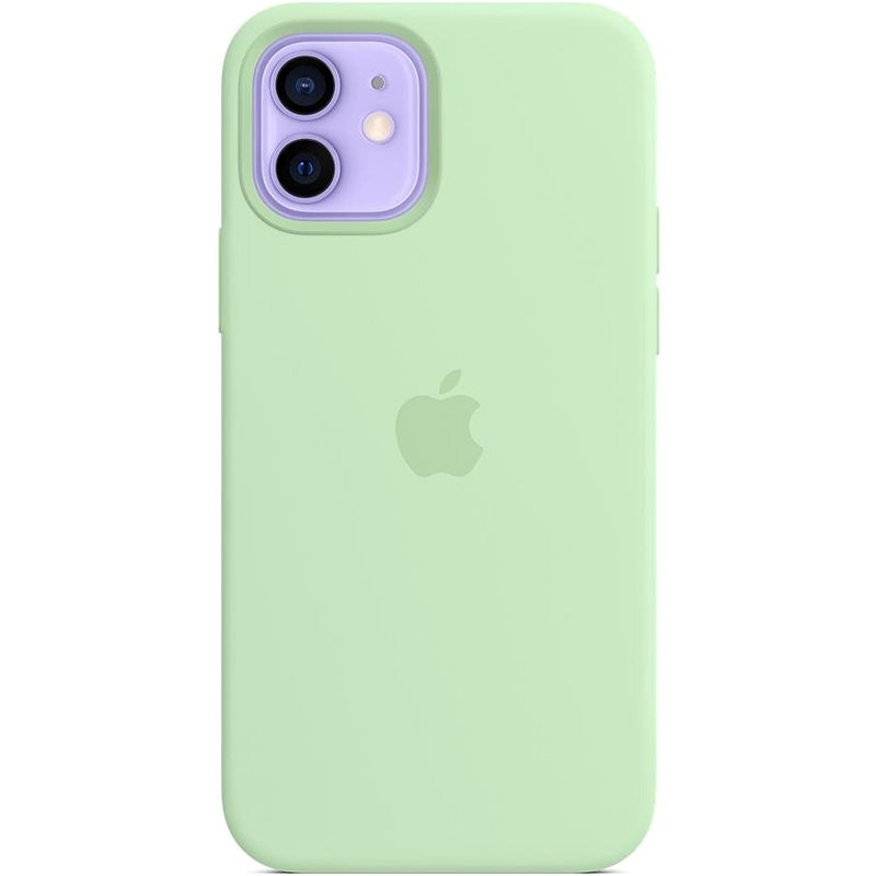 Apple iPhone 12 and 12 Pro Silicone Case with MagSafe Pistachio - Mobile Case