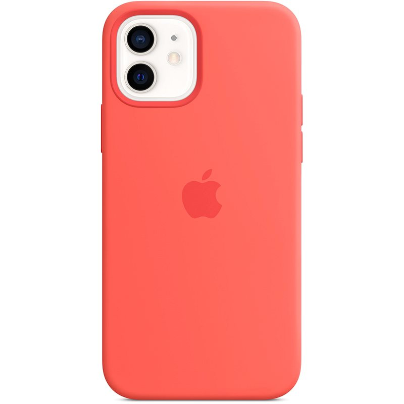 Apple iPhone 12 and 12 Pro Silicone Case with MagSafe Citrus, Pink - Mobile Case