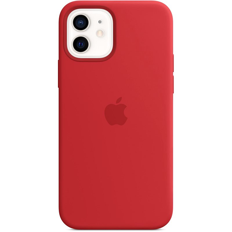 Apple iPhone 12 and 12 Pro Silicone Case with MagSafe, Red - Mobile Case