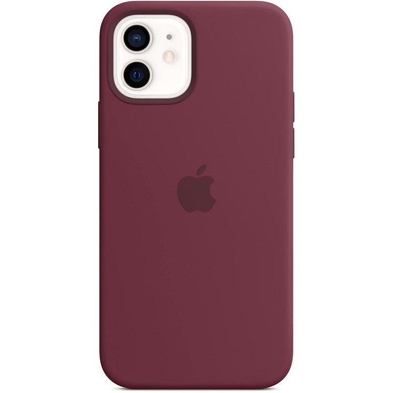 Apple iPhone 12 Mini Silicone Case with MagSafe, Plum - Mobile Case