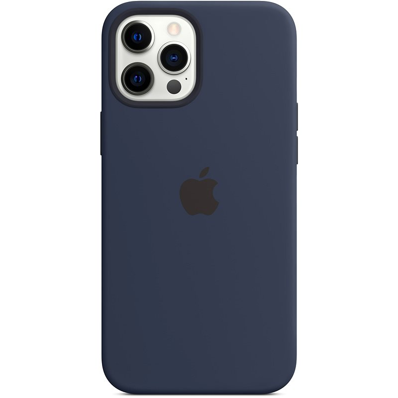 Apple iPhone 12 Pro Max Silicone Case with MagSafe, Navy Blue - Mobile Case