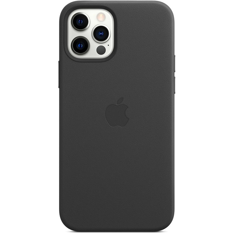 Apple iPhone 12 and 12 Pro Leather Case with MagSafe, Black - Mobile Case