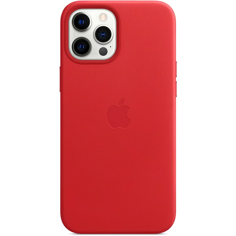 Apple iPhone 12 Pro Max Leather Case with MagSafe, Red - Mobile Case