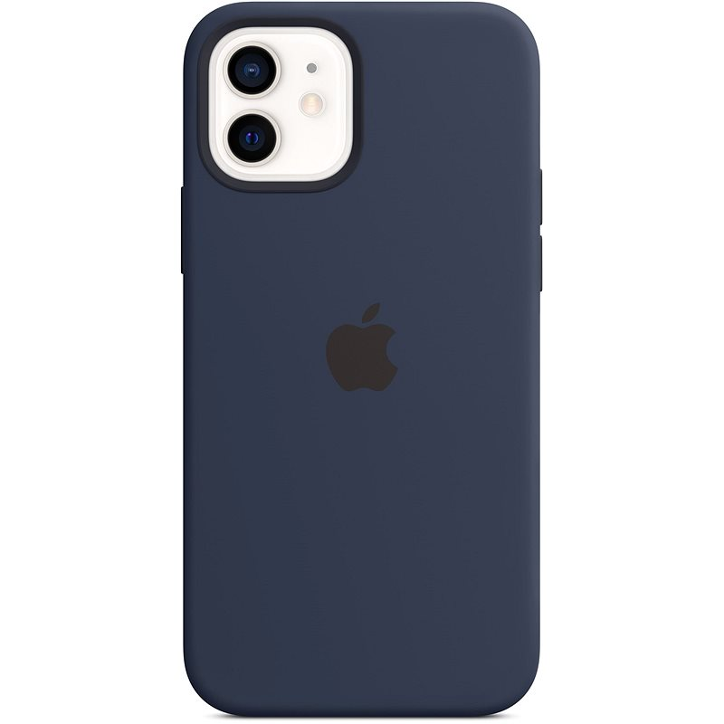 Apple iPhone 12 and 12 Pro Silicone Case with MagSafe, Navy Blue - Mobile Case