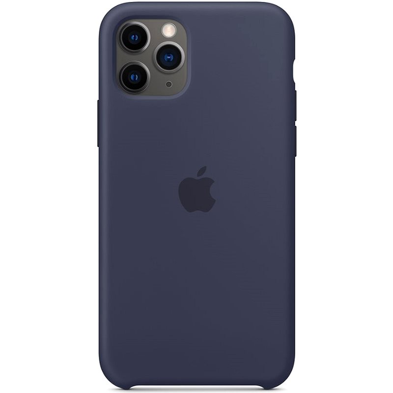 Apple iPhone 11 Pro Silicone Cover, Midnight Blue - Mobile Case