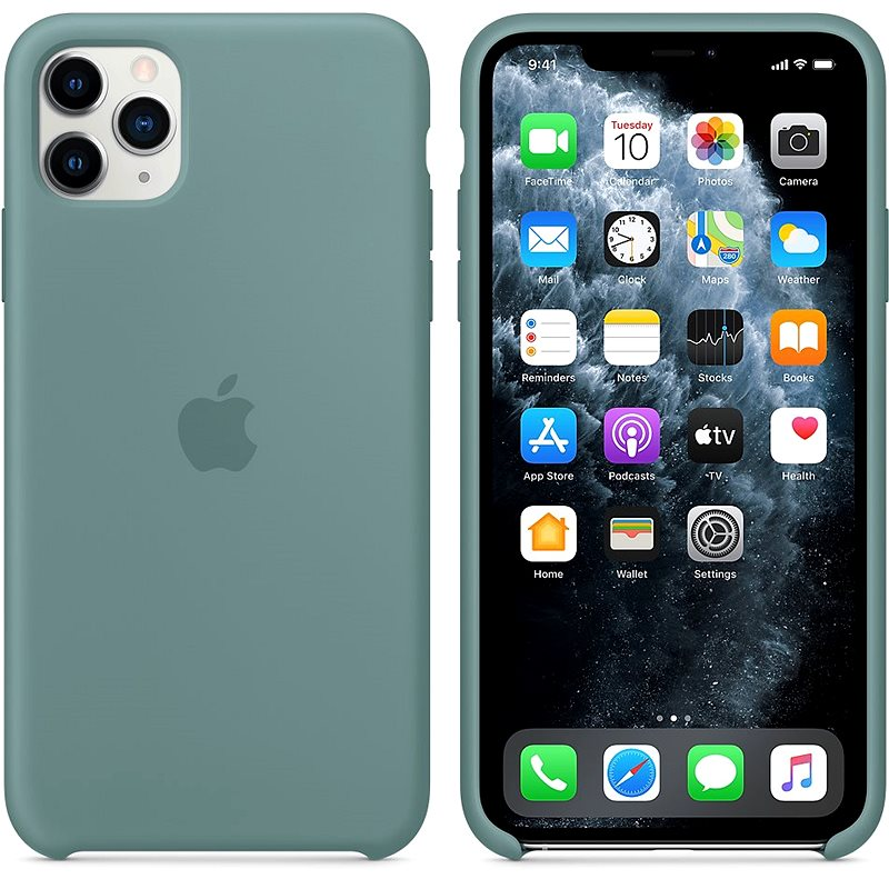 Apple iPhone 11 Pro Max Silicone Cover, Cactus Green