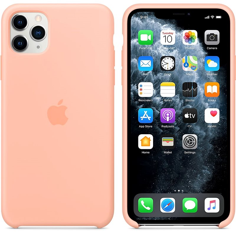 Apple iPhone 11 Pro Max Silicone Cover Grapefruit Pink - Mobile ...