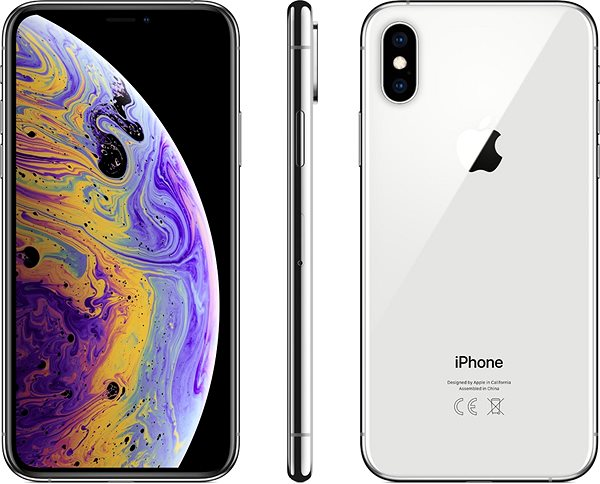 iPhone Xs 64GB Silver - Mobile Phone