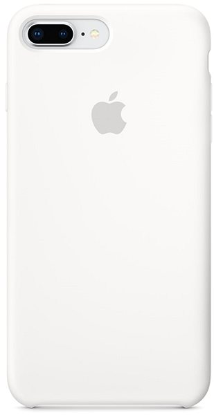 iPhone 8 Plus/7 Plus Silicone Cover White - Mobile Case