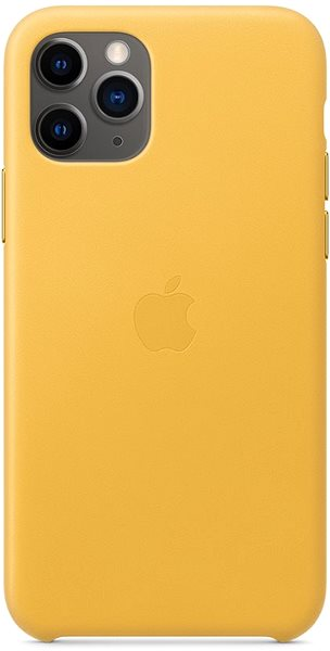 Apple iPhone 11 Pro Leather Case warm yellow - Mobile Case