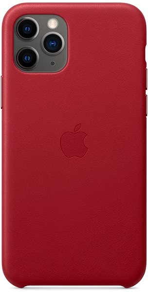 Apple iPhone 11 Pro Leather Cover, RED - Mobile Case