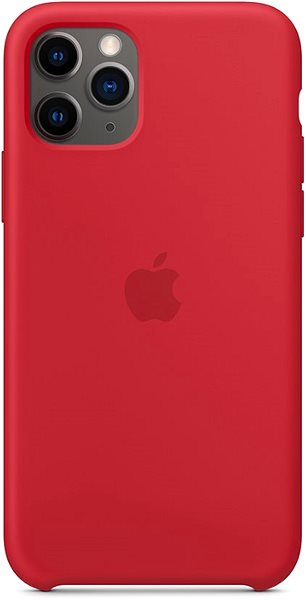 Apple iPhone 11 Pro Silicone Cover, RED - Mobile Case