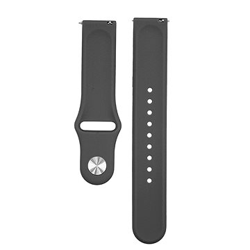 Eternico Quick Release 20 Silicone Band Black for Samsung Galaxy Watch - Watch band