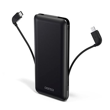 ChoeTech MFi Power Bank PD 18W with Lightning Cable 1000mAh Black - Powerbank