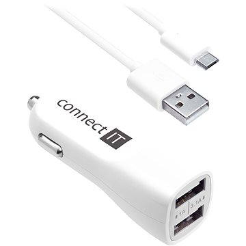 CONNECT IT InCarz Charger Strong White - Car Charger