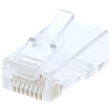 100-pack, Datacom, RJ45, CAT6, UTP, 8p8c, unshielded, folded, for a wire - Connector
