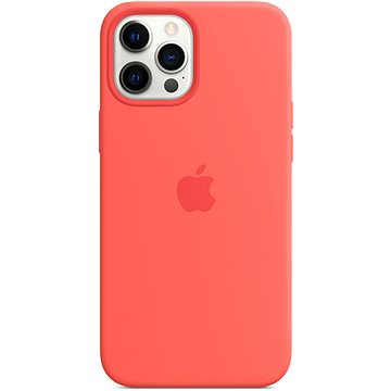 Apple iPhone 12 Pro Max Silicone Case with MagSafe, Citrus Pink - Mobile Case