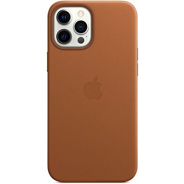 Apple iPhone 12 Pro Max Leather Case with MagSafe, Saddle Brown - Mobile Case