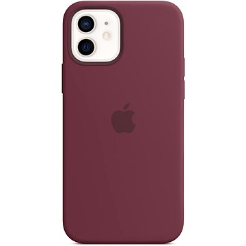 Apple iPhone 12 and 12 Pro Silicone Case with MagSafe, Plum - Mobile Case