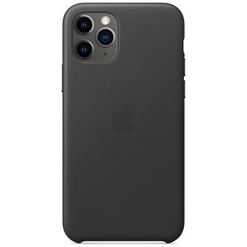 Apple iPhone 11 Pro Leather Cover, Black - Mobile Case