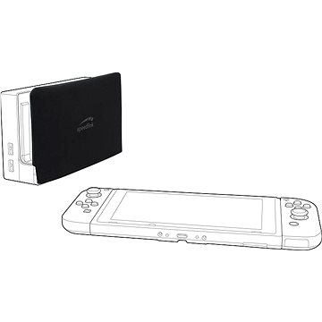 Speedlink GUARD Protection Cover - for Nintendo Switch Station, Black - Nintendo Switch Case
