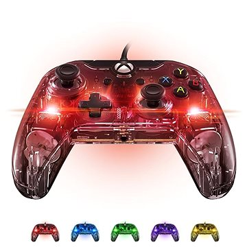 PDP Afterglow Wired Controller - Xbox One - Transparent, Glowing - Gamepad