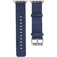 Eternico 42mm Apple Watch Canvas Band, Blue - Watch band